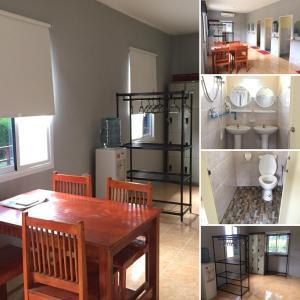 A kitchen or kitchenette at Khao Sok Jungle Hostel
