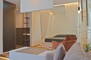 Letto o letti in una camera di Masseria Torrepietra