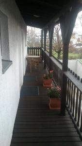 A balcony or terrace at Gasthaus Zur Hecke