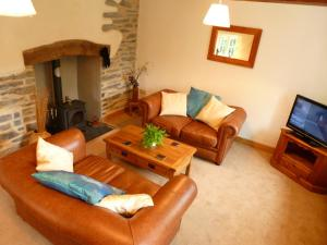 A seating area at Dolmurgoch Snowdonia Cottage