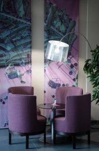 Ein Sitzbereich in der Unterkunft Hotel Munich City