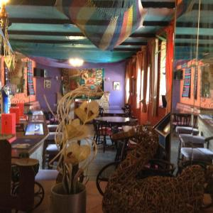 A restaurant or other place to eat at Pantyrathro International Hostel