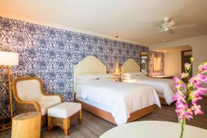 ヒルトン プエルトバジャルタリゾート オールインクルーシブにあるベッド