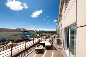 Балкон или терраса в Отель Олимпик