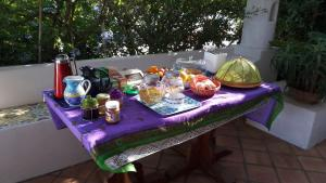 Breakfast options available to guests at Agriturismo La Dolce Vita Lipari