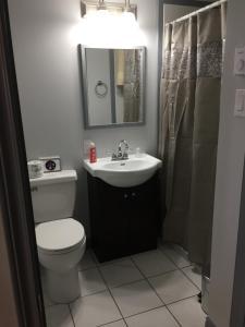 A bathroom at La Digue Suites