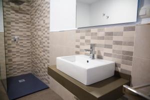 Een badkamer bij Hotel Salambina