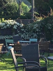 A garden outside The Fleur de Lys Inn - previously Inn at Cranborne