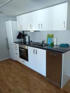 A kitchen or kitchenette at Skuteviken Apartments 40
