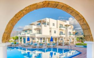The swimming pool at or near Pyrgos Blue