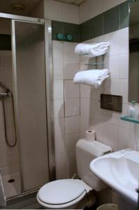 A bathroom at Hôtel Aladin
