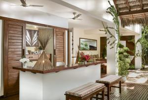 O saguão ou recepção de Villa Métisse