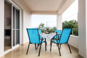 A balcony or terrace at Villa Broumas Kefalonia