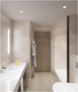 Salle de bains dans l'établissement Hilton Garden Inn Bordeaux Centre
