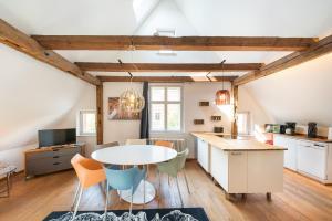 """Küche/Küchenzeile in der Unterkunft Design Apartments - """"Im Holländerhaus"""""""