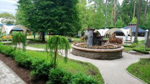 A garden outside Art Hotel Pushkino