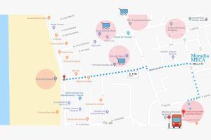 The floor plan of Moradia Meca