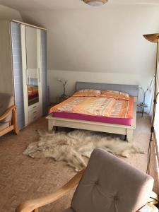 Кровать или кровати в номере Оазис вблизи Сочи Улица Звёздная 200