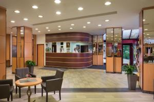 The lobby or reception area at Benczur Hotel
