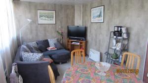 Télévision ou salle de divertissement dans l'établissement Appartement du château