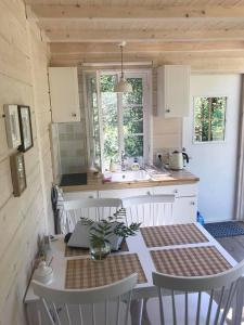 A kitchen or kitchenette at Tahkuna Forest House