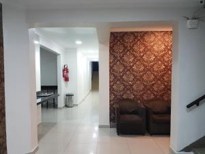 A seating area at Hotel Rio Branco