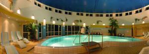 The swimming pool at or near Wyndham Garden Wismar