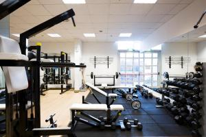 The fitness center and/or fitness facilities at Hilton Rome Airport