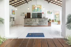 The lobby or reception area at Hotel Latitud