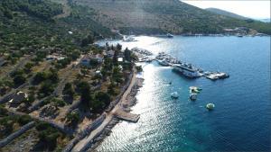 A bird's-eye view of Glamping resort Fešta Kornati