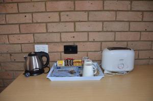 Coffee and tea-making facilities at Sunray Motor Inn