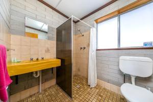 A bathroom at Nullarbor Roadhouse