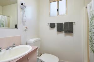 A bathroom at Gundagai Cabins & Tourist Park