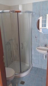 A bathroom at Ifigenia Hotel