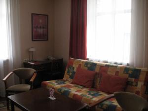 Гостиная зона в Гостиница Каргополь
