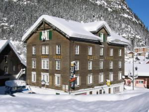 Chalet Hotel Krone during the winter