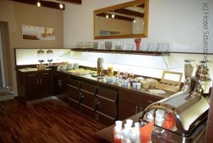A kitchen or kitchenette at Hotel Sittardsberg
