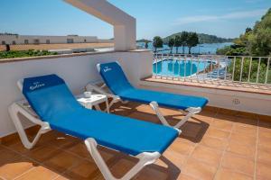 A balcony or terrace at Hotel Calina