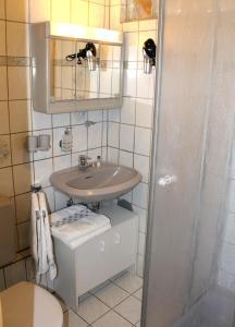 A bathroom at Ferienwohnung bei Inge und Heinz