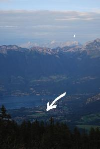 A bird's-eye view of Annecy-Lake and Mountains - Savoie France