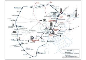 The floor plan of The Hideout Tokyo