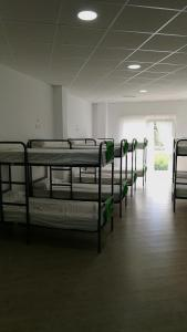 A bunk bed or bunk beds in a room at Albergue O Trisquel