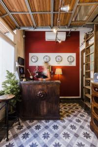 O saguão ou recepção de Two Pillows Boutique Hostel