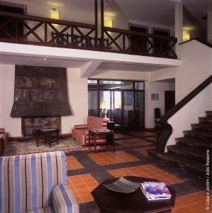 El vestíbulo o zona de recepción de Pousada Forte da Horta