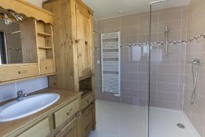 Salle de bains dans l'établissement gite les rochettes