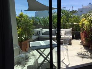 A balcony or terrace at Apartment Atrium