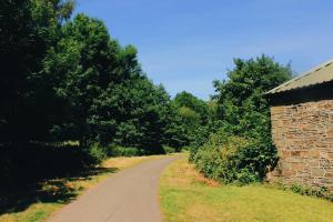 A garden outside Taff Trail Bunkhouse