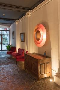 Een zitgedeelte bij Hotel de Flandre