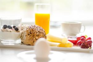Breakfast options available to guests at Bardufoss Hotel