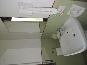 A bathroom at Camping Zeus